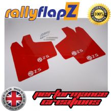 MG ZS  (2001-2005) RED MUDFLAPS (Logo White)